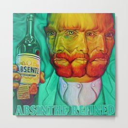 Vintage Green Fairy Absinthe Aperitif Vincent van Gogh Lithograph Advertisement Poster Metal Print