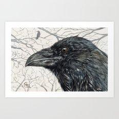 Crow Raven Art Print