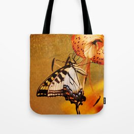 Swallowtail Butterfly and Tiger Lily Tote Bag