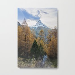 Autumn Colors by the Matterhorn Metal Print