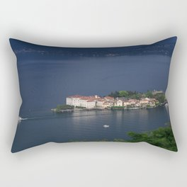 Busy Day On Lake Maggiore Rectangular Pillow