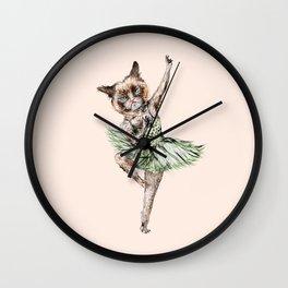 Siamese Ballerina in Cat Ballet Wall Clock