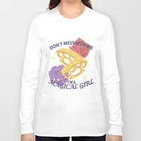 magical girl Long Sleeve T-shirts featuring Magical Girl by ToppledCards Designs