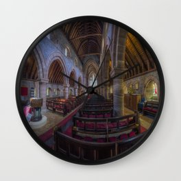 Watching Angels Wall Clock