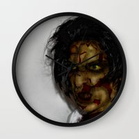 zombie Wall Clocks featuring Zombie!!  by Jake Stanton