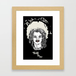 what ever happened to baby jane? Framed Art Print