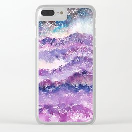 Abstract Whimsical Art Illustration. Clear iPhone Case