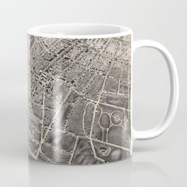 Vintage Pictorial Map of Poughkeepsie NY (1871) Coffee Mug