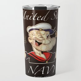 United States Navy Popeye Travel Mug