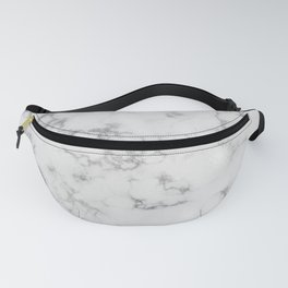 Dove Gray Marble With Soft Silver Veins Fanny Pack