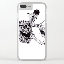 Undying Face Clear iPhone Case