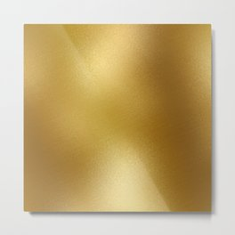 Pure Gold Print Metal Print