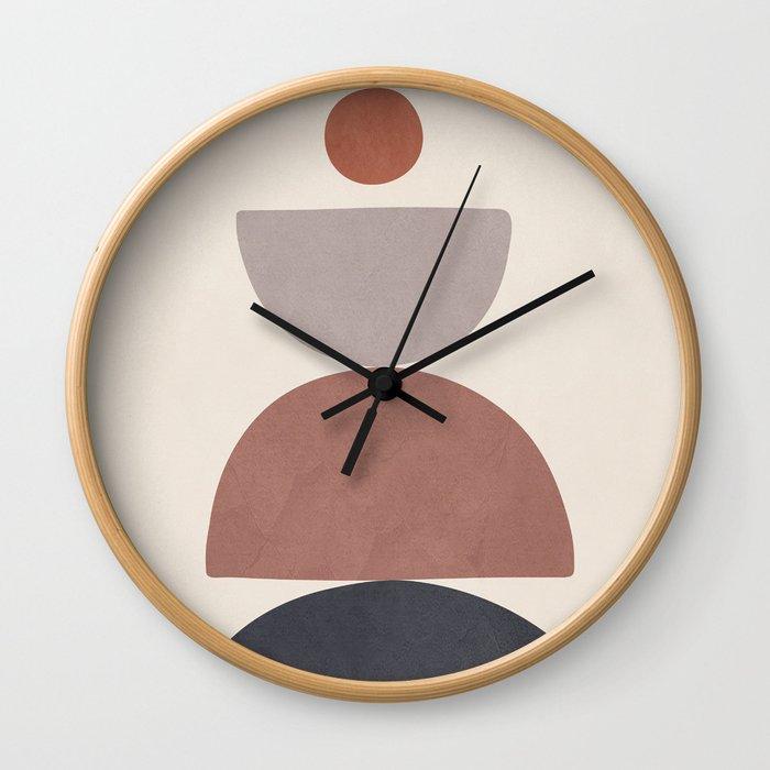 Balancing Elements III Wall Clock