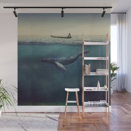 Old Sea and the Man Wall Mural