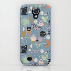 Lunar Pattern: Blue Moon Galaxy S4 Slim Case