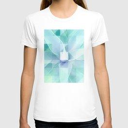 Soft Geo Agave - Aqua and blue T-shirt