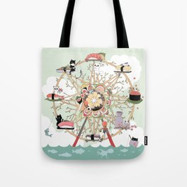 The Sushi Wheel Tote Bag