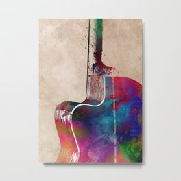 Guitar art 9 #guitar #music Metal Print