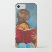 bookworm iPhone & iPod Cases featuring bookworm by Sugah Acrylics & Designs