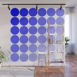 Indigo Circle Color Chart Wall Mural