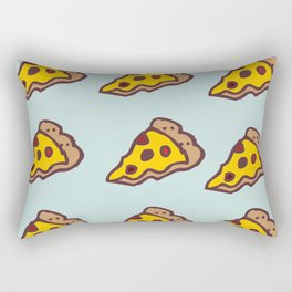 Pizza Pattern with Teal Background Rectangular Pillow