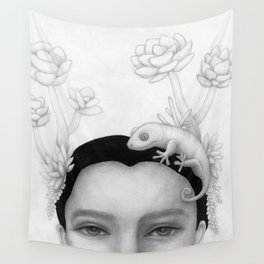 Chameleon Woman Wall Tapestry