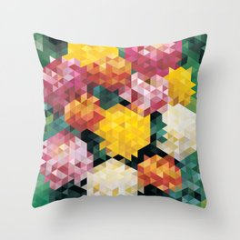 Chrysanthemums 2 Throw Pillow
