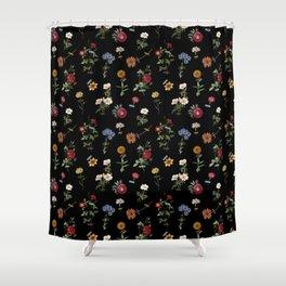 Vertical Garden (Black) Shower Curtain
