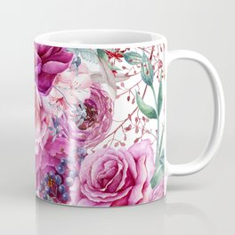 Roses and Peonies Collage Coffee Mug