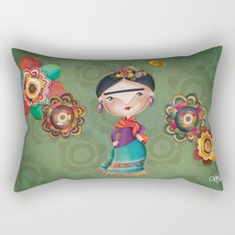 Frida Kahlo Rectangular Pillow