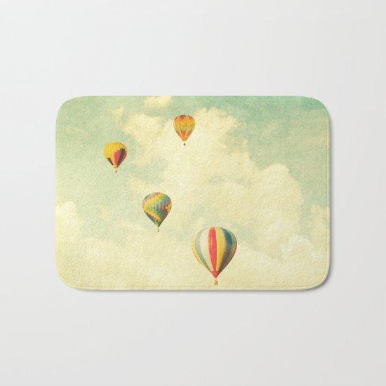 Drifting Balloons Bath Mat