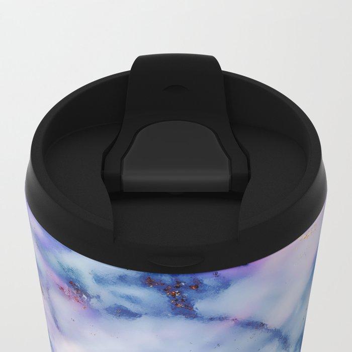 Marble Effect #6 Metal Travel Mug