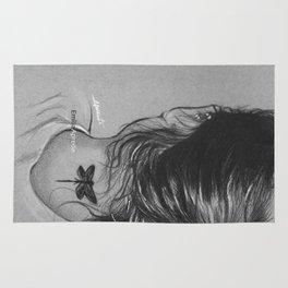 Lauren Jauregui Dragonfly Tattoo Sketch Rug