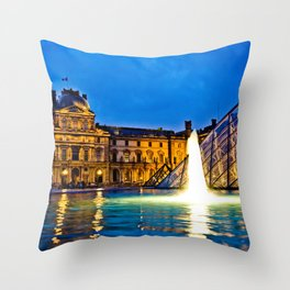 Palais du Louvre II Throw Pillow