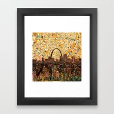st louis city skyline Framed Art Print