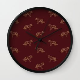 Gold Tigers Wall Clock