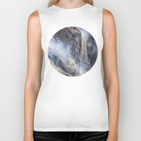 geology Biker Tanks featuring The magnificent Barron Falls by Wendy Townrow