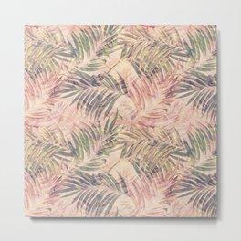 Palm Leaves in pink Metal Print