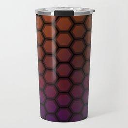 Insta gradient hexagons Travel Mug