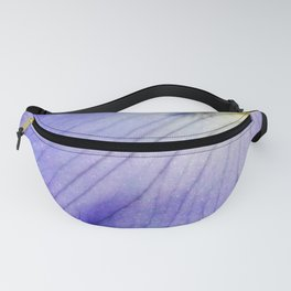 Blue Violet Iris Petal Close up Fanny Pack