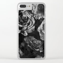 Distressed Roses Clear iPhone Case