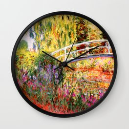 """Claude Monet """"Water lily pond, water irises"""" Wall Clock"""