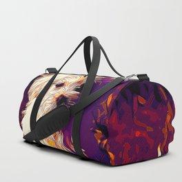 maltese dog vector art late sunset Duffle Bag