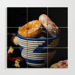 Donuts in a Basket Wood Wall Art