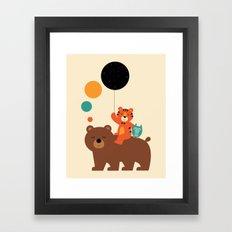 My Little Explorer Framed Art Print