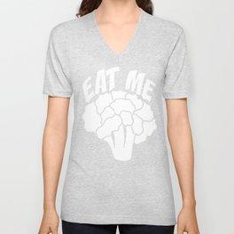Vegetable Love Cauliflower Shirt Eat Me Cauliflower Unisex V-Neck