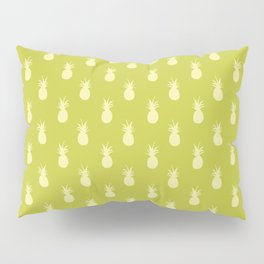 Retro Pineapples - Lime Green and Pastel Yellow Pillow Sham