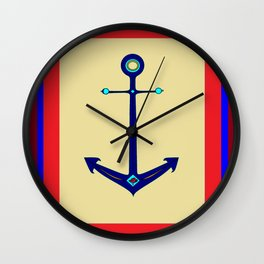 A Nautical Anchor with Boarder Wall Clock