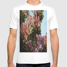 Blossoms Mens Fitted Tee MEDIUM White