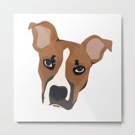 Pitbull Puppy Love Metal Print